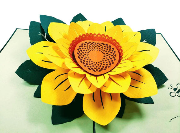 Sunflower Thank You 3D Pop Up Greeting Card 2