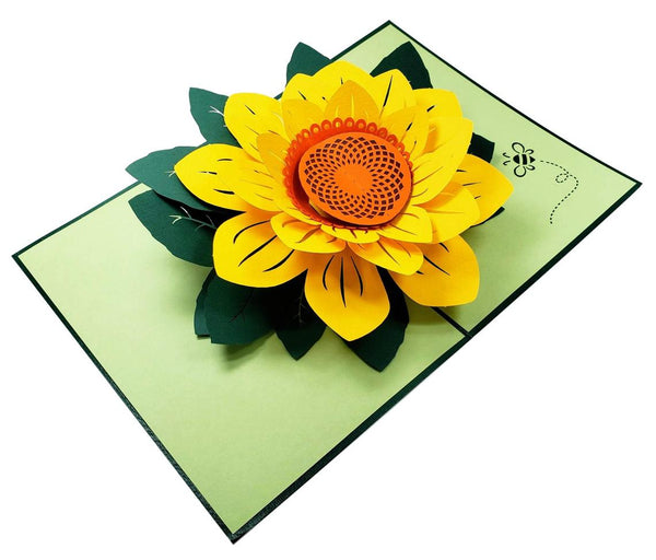 Sunflower Thank You 3D Pop Up Greeting Card 3