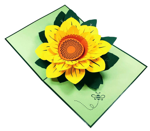 Sunflower Thank You 3D Pop Up Greeting Card 5