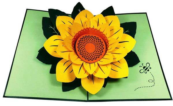 Sunflower Thank You 3D Pop Up Greeting Card 6