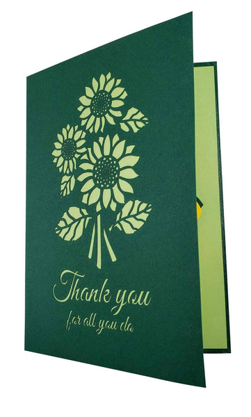 Sunflower Thank You 3D Pop Up Greeting Card 7