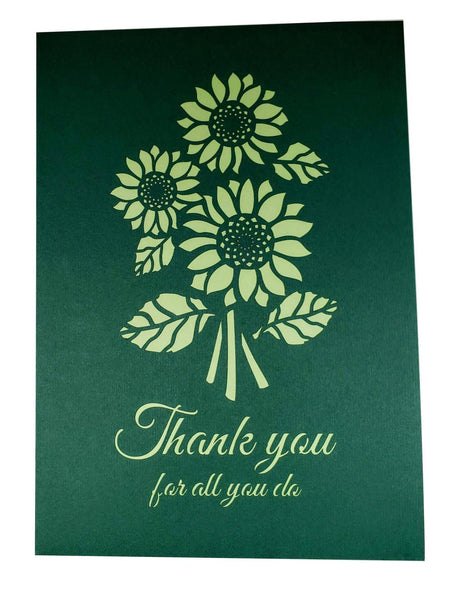 Sunflower Thank You 3D Pop Up Greeting Card 8