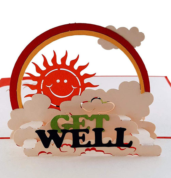 Sunshine Get Well 3D Pop Up Greeting Card 1 front