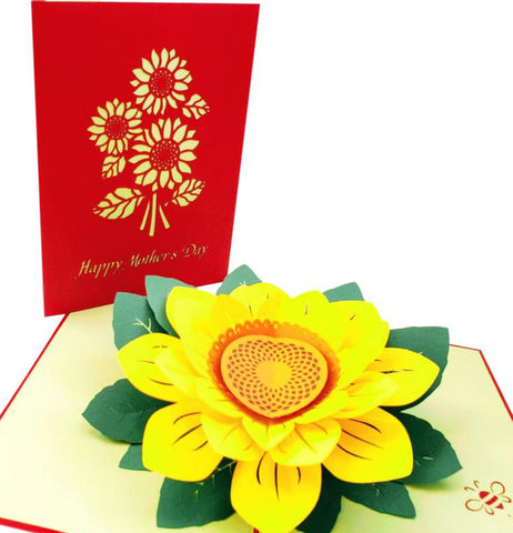 Sunflowers Happy Mother's Day 3D Pop Up Greeting Card 1 front