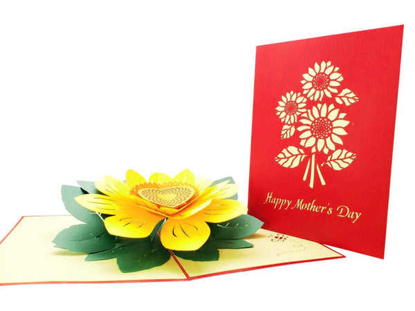 Sunflowers Happy Mother's Day 3D Pop Up Greeting Card 2