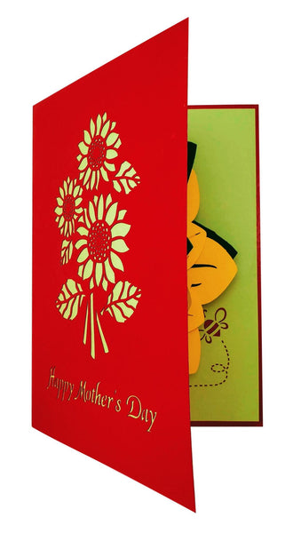 Sunflowers Happy Mother's Day 3D Pop Up Greeting Card 6