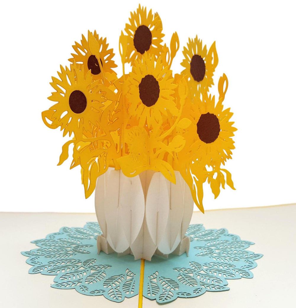 Sunflowers 3D Pop Up Greeting Card 1