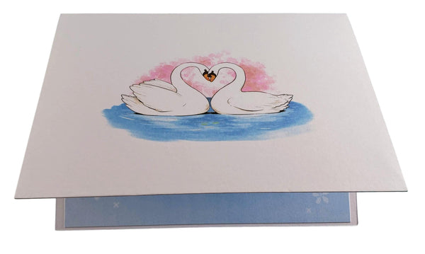 Swan Heart 3D Pop Up Greeting Card 6