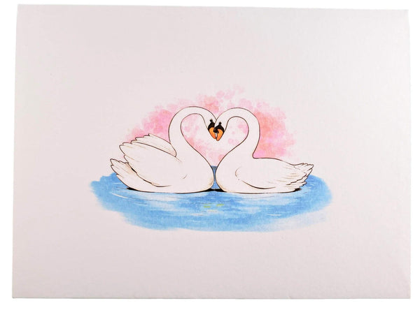 Swan Heart 3D Pop Up Greeting Card 7