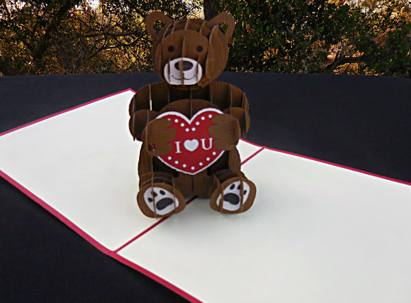 Teddy Bear 3D Pop Up Greeting Card 2