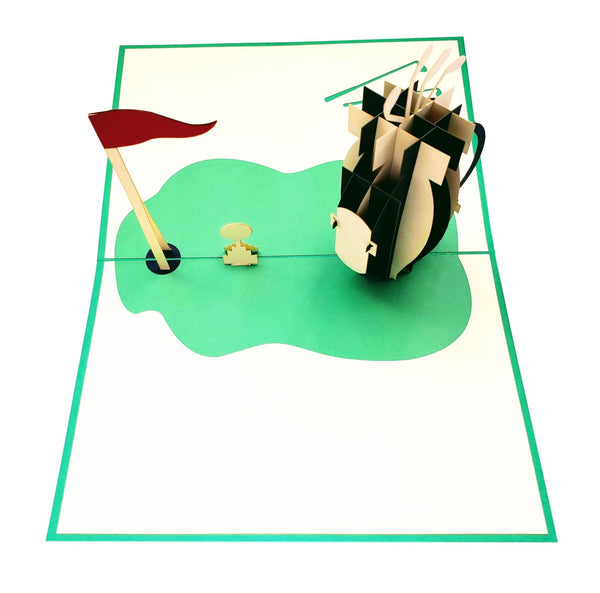 Tee Time 3D Pop Up Greeting Card