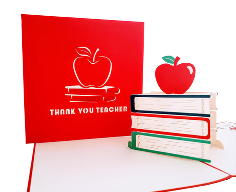 Thank You Teacher 3D Pop Up Greeting Card
