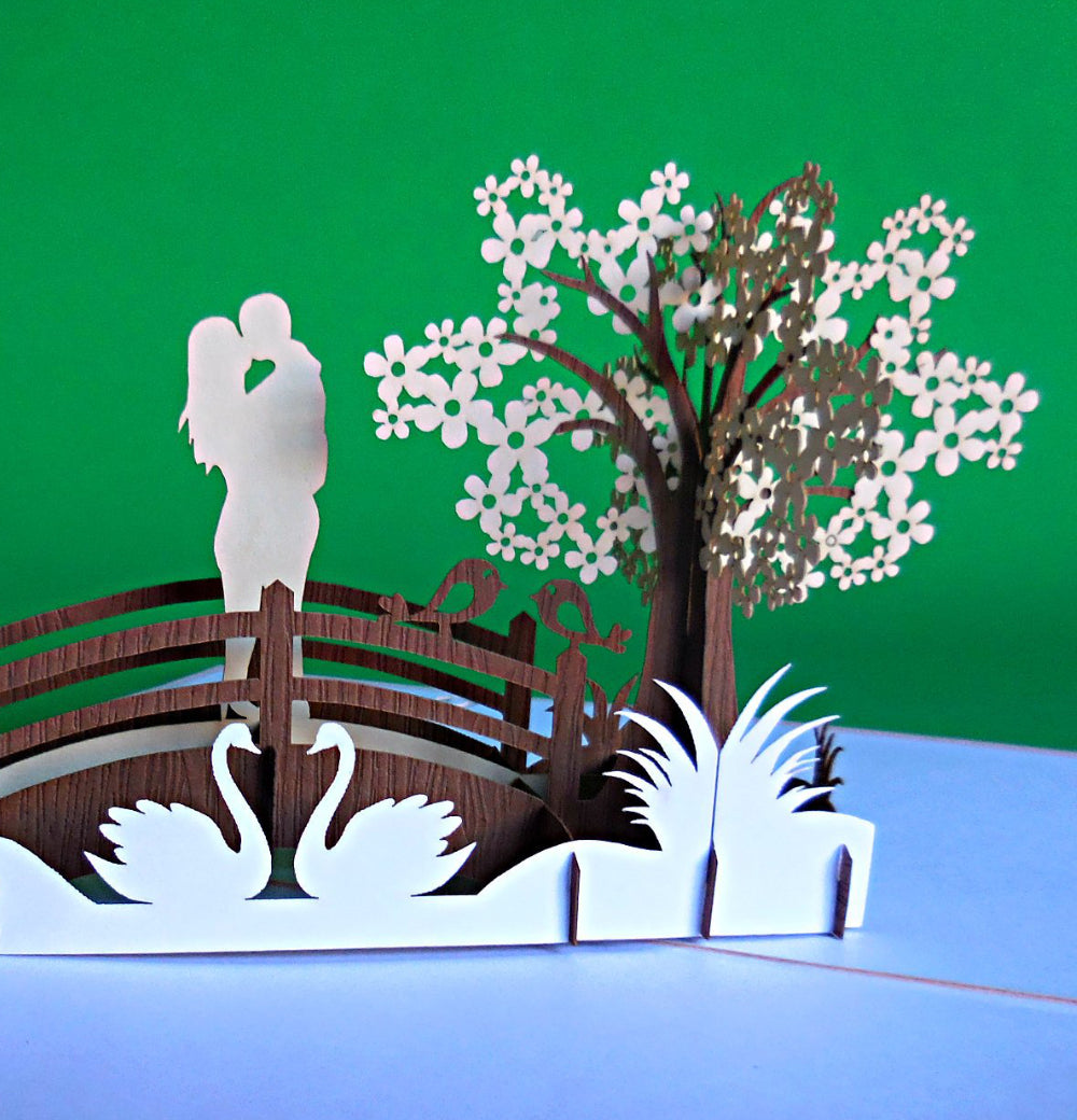 The Couple 3D Pop Up Greeting Card 1 front