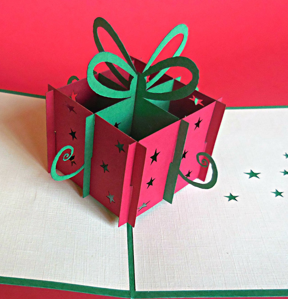 The Holiday Present 3D Pop Up Greeting Card 1