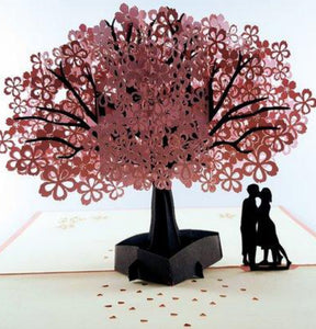 The Lovers 3D Pop Up Greeting Card 1