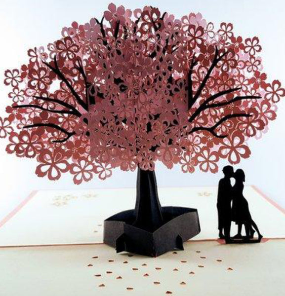 The Lovers 3D Pop Up Greeting Card 1 front