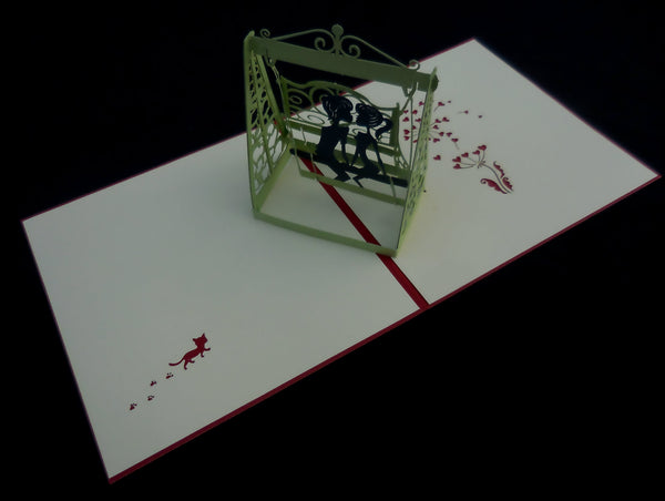 The Lovers 3D Pop Up Greeting Card 2
