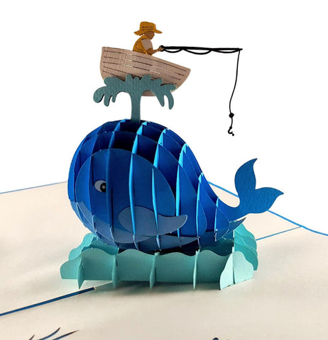 The Man And The Whale 3D Pop Up Greeting Card 1