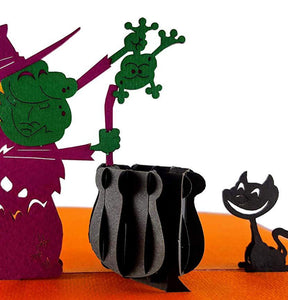 The Witch 3D Pop Up Greeting Card 1