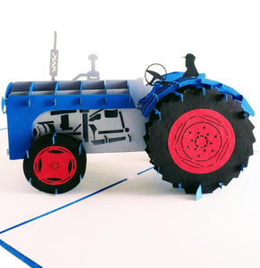Tractor 3D Pop Up Greeting Card 01 front