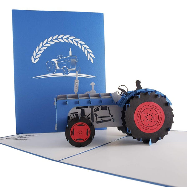 Tractor 3D Pop Up Greeting Card 4
