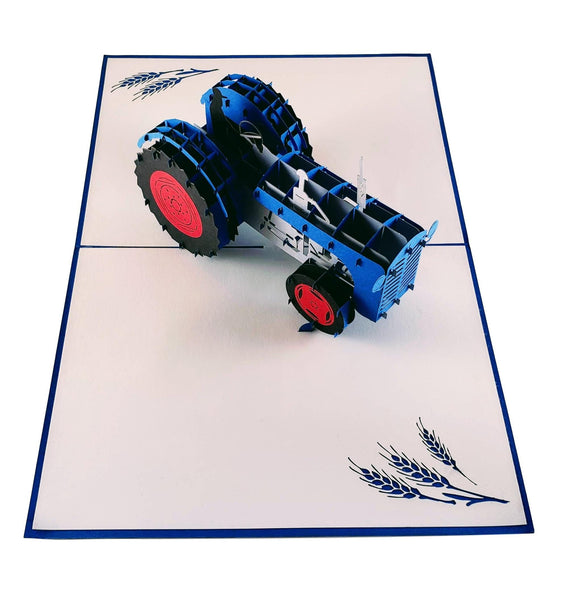 Tractor 3D Pop Up Greeting Card 5