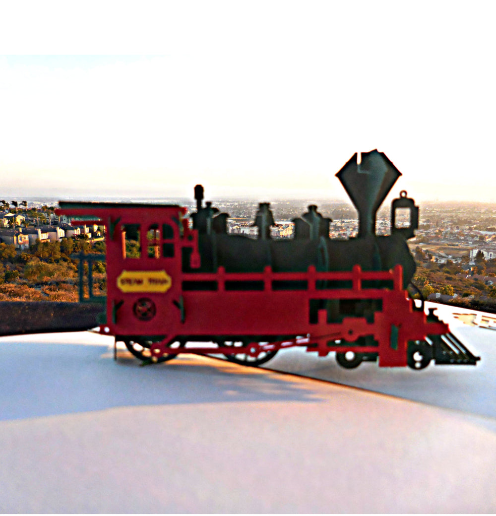 Train 3D Pop Up Greeting Card 1 Cover