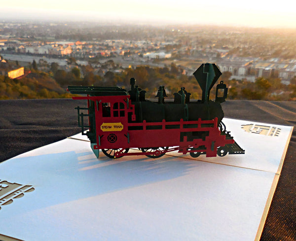 Train 3D Pop Up Greeting Card 3