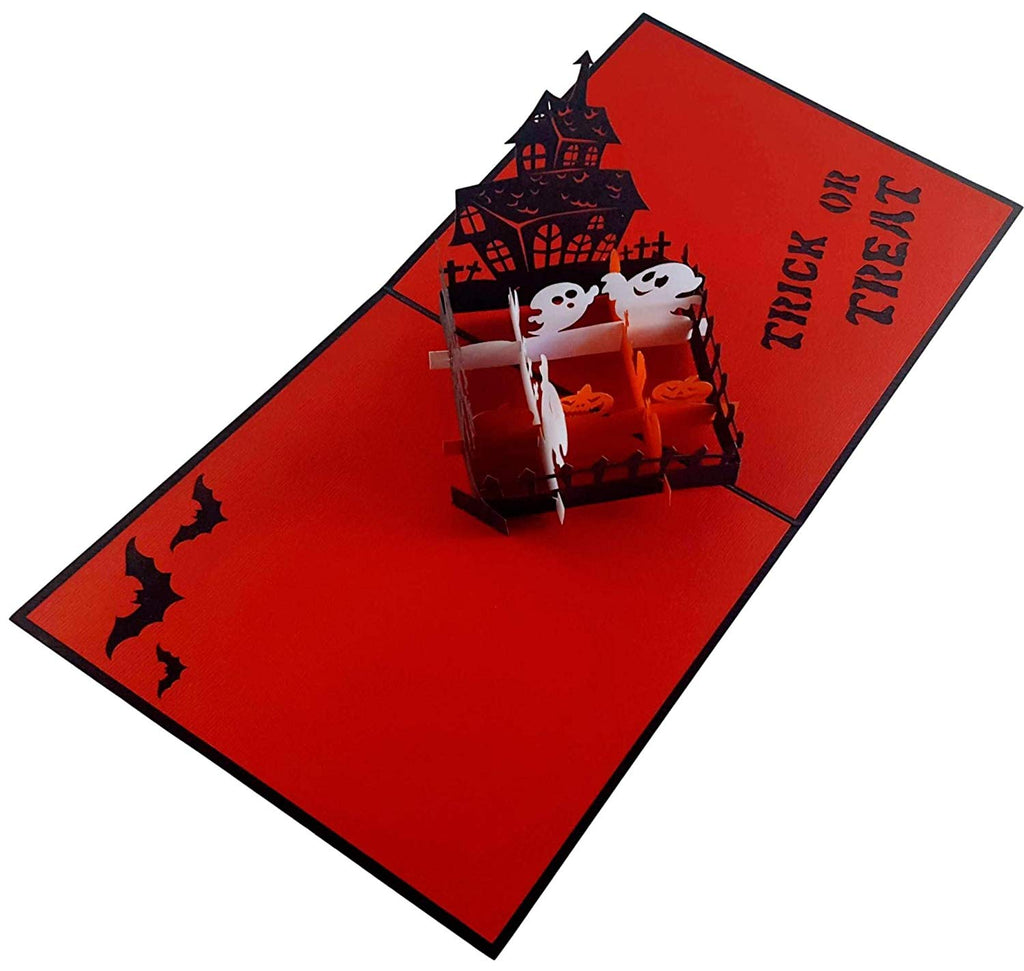 Trick Or Treat 3d Pop Up Greeting Card Igifts And Cards