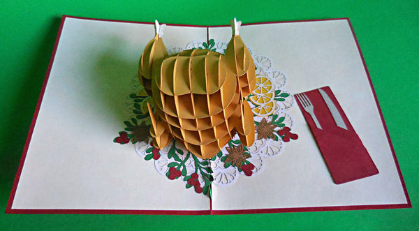 Turkey 3D Pop Up Greeting Card 2