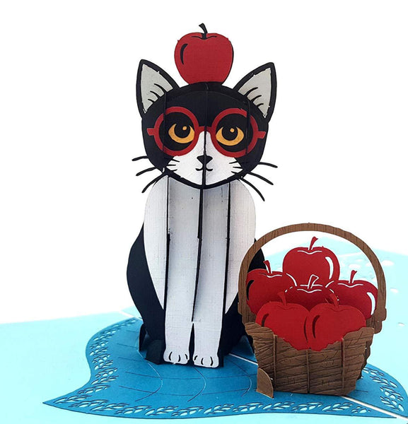 Tuxedo Cat 3D Pop Up Greeting Card 1 front