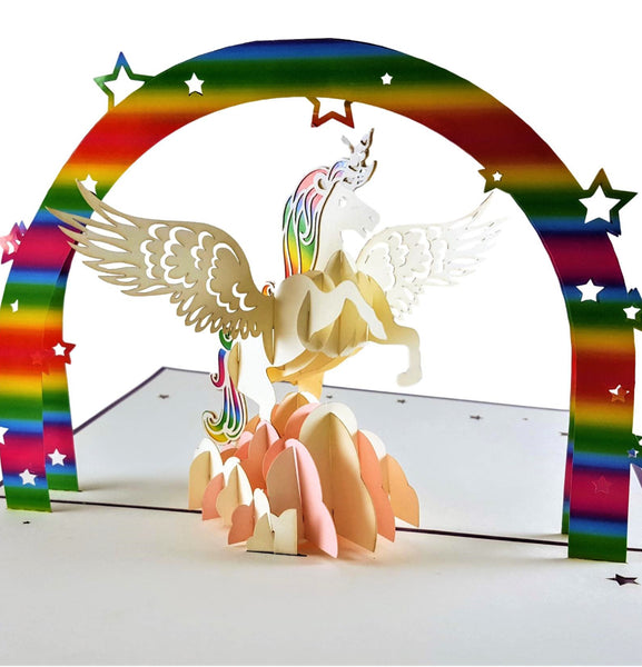 Unicorn 3D Pop Up Greeting Card 1 front