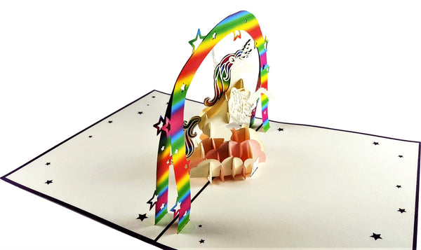 Unicorn 3D Pop Up Greeting Card 3