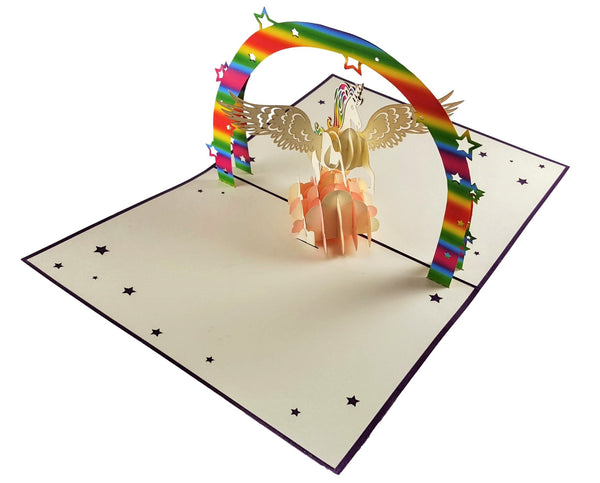Unicorn 3D Pop Up Greeting Card 4