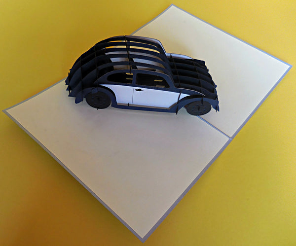 VW Car 3D Pop Up Greeting Card 2