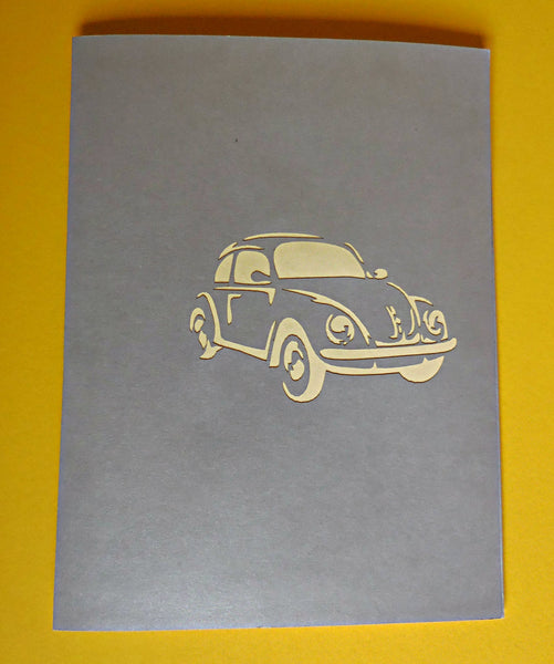 VW Car 3D Pop Up Greeting Card 3
