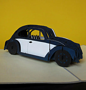 VW Car 3D Pop Up Greeting Card 1