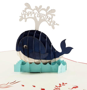 Whale Birthday 3D Pop Up Greeting 1