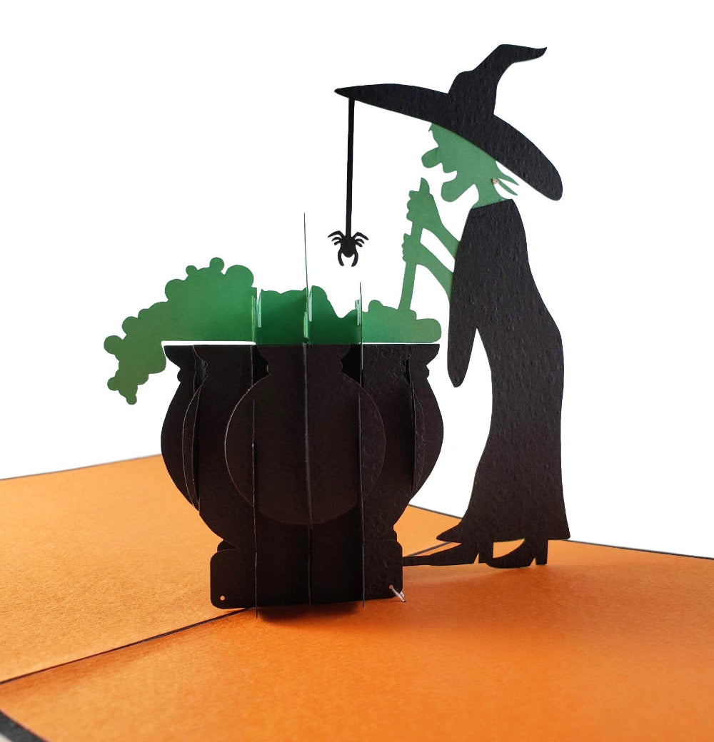 Wicked Witch 3D Pop Up Greeting Card 1 front