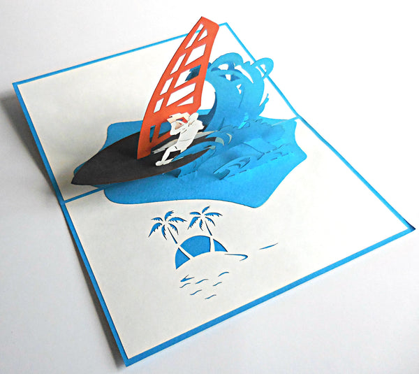 Windsurfing 3D Pop Up Greeting Card 2