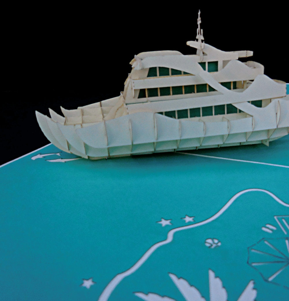 Yacht 3D Pop Up Greeting Card 1