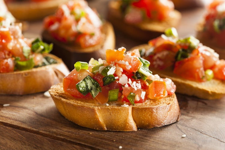 Melted Cheese topped BRUSCHETTA