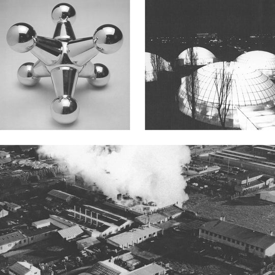 Historical photos of Abstracta System connector, geodesic domes and factory in Denmark