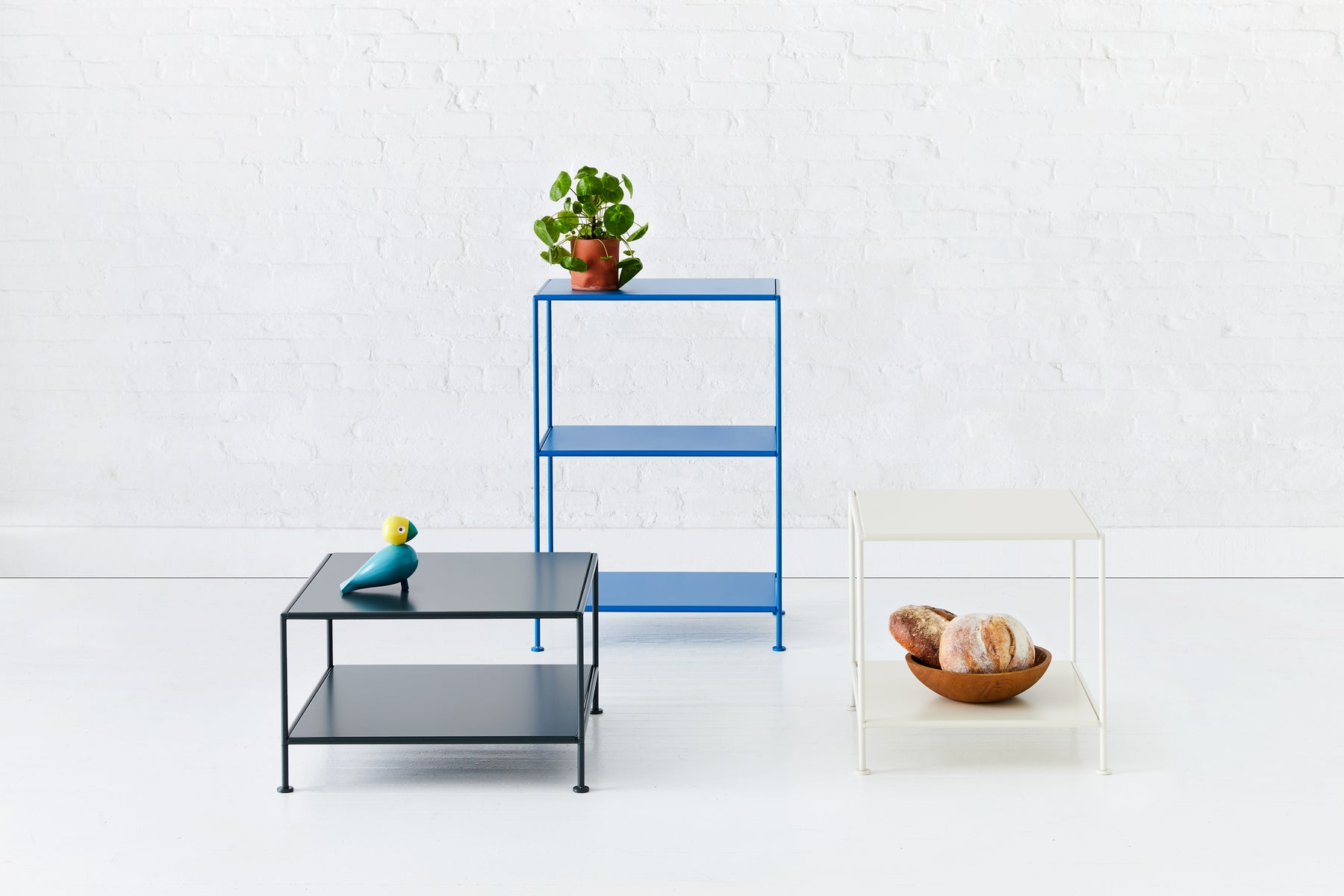 Stille Furniture group shot with multiple units and colors featured