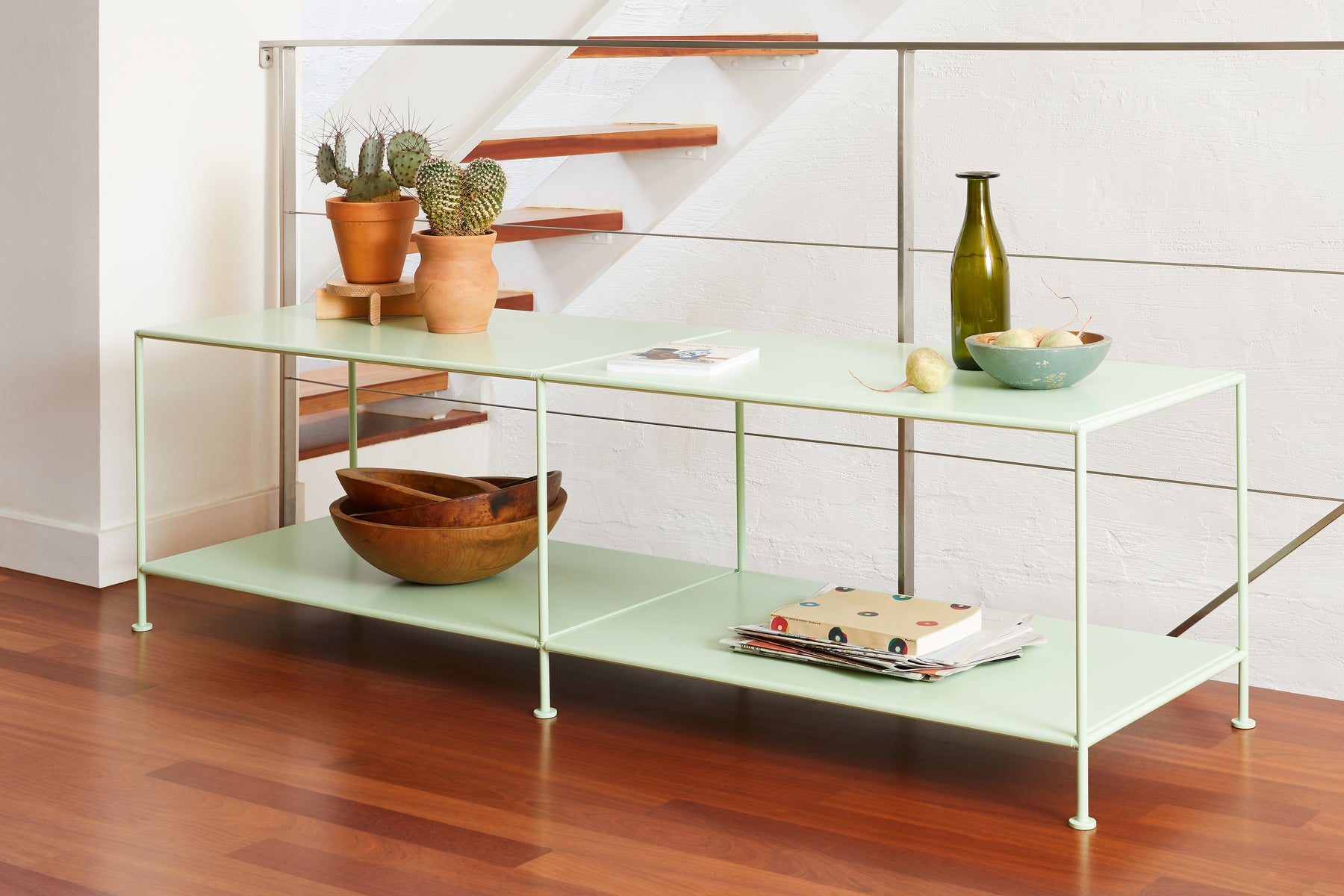 Stille Furniture Media Console Deep in Mint color