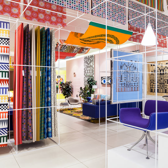 Herman Miller's Alexander Girard exhibit designed by Standard Issue using the Abstracta System