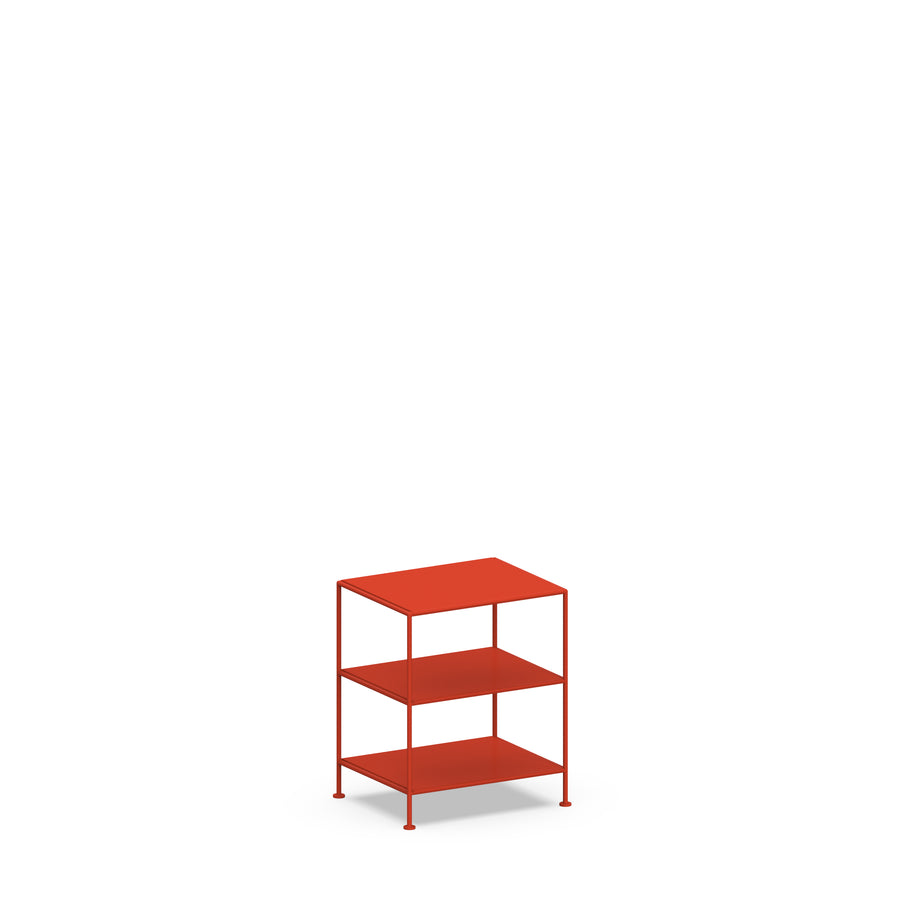 Stille Furniture Bedside Table High in Tomato color