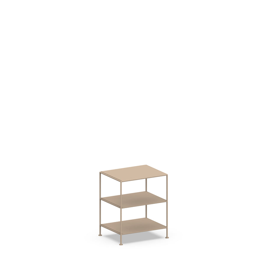 Stille Furniture Bedside Table High in Taupe color