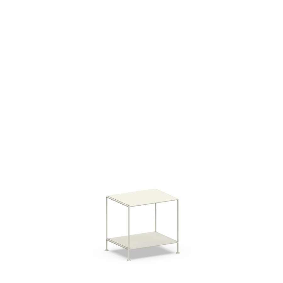 Stille Furniture Bedside Table Low in Bone color