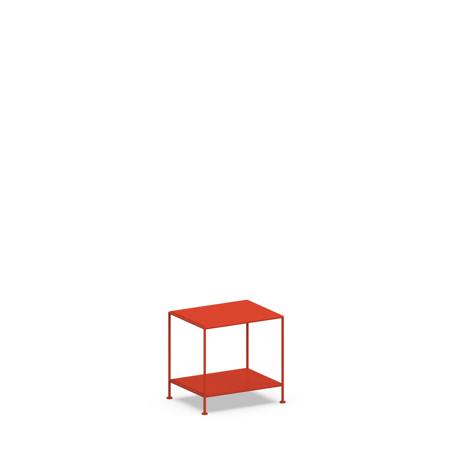 Stille Furniture Bedside Table Low in Tomato color